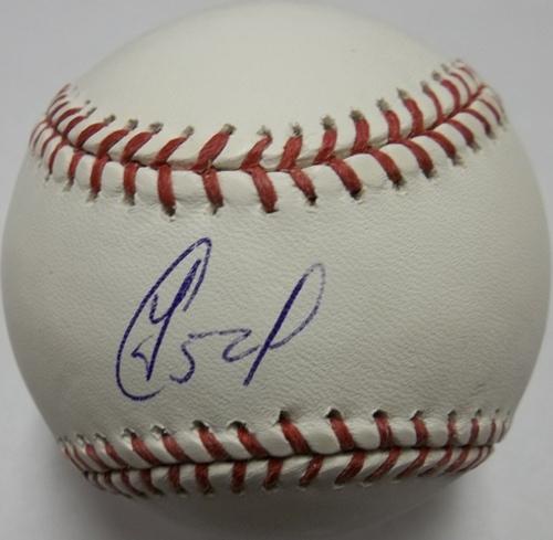 Photo of Yoenis Cespedes Autographed Baseball