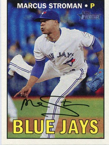 Photo of 2016 Topps Heritage #711B Marcus Stroman Action SP