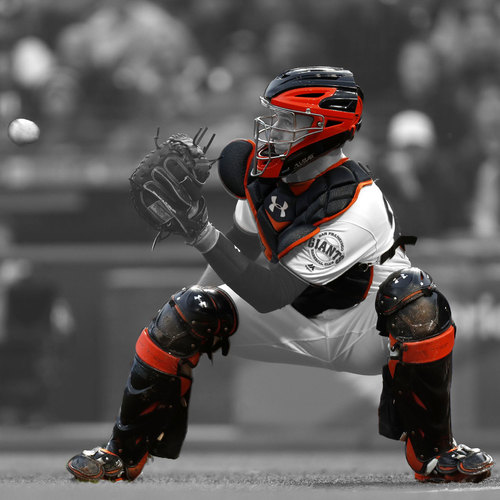 Photo of San Francisco Giants - 5x All-Star Buster Posey - Game Used Catcher's Gear - Worn 6/24/17