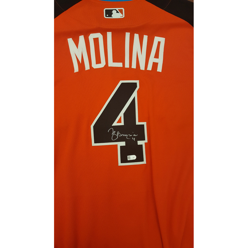 Yadier Molina 2017 Major League Baseball Workout Day/Home Run Derby Autographed Jersey