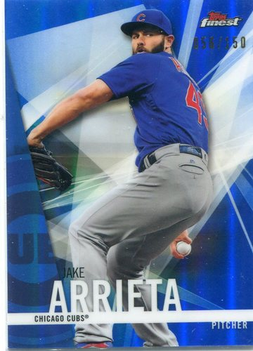 Photo of 2017 Finest Blue Refractors #48 Jake Arrieta 056/150 -- NLCS roster