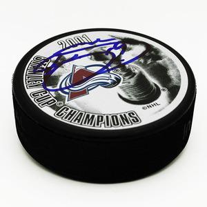 Joe Sakic Colorado Avalanche Autographed 2001 Stanley Cup Puck