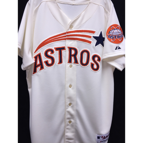 Photo of Team-Issued 2015 Astros Shooting Star/Astrodome 50th Anniversary Jersey