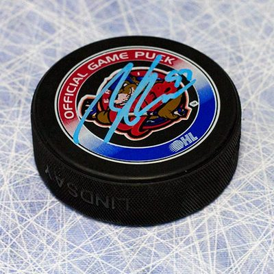 Connor McDavid Erie Otters Autographed OHL Official Game Puck
