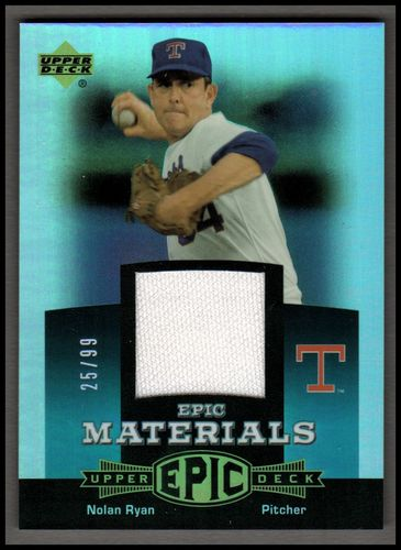 Photo of 2006 Upper Deck Epic Materials Teal #NR2 Nolan Ryan Jsy/99