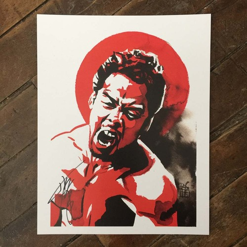 Photo of Hideo Itami SIGNED 11 x 14 Rob Schamberger Print