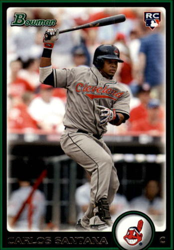 Photo of 2010 Bowman Draft #BDP69 Carlos Santana Rookie Card -- Indians post-season