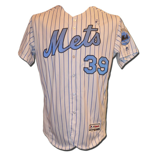 Photo of Jerry Blevins #39 - Game Used Father's Day Jersey - Mets vs. Braves - 6/19/16