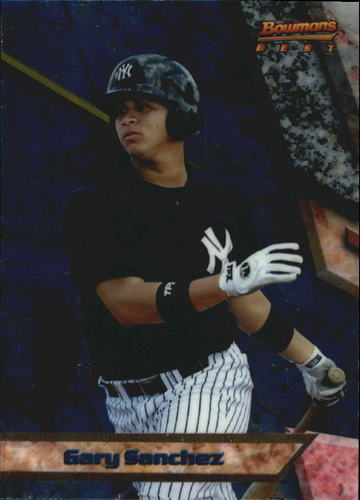 Photo of 2011 Bowman Bowman's Best Prospects #BBP19 Gary Sanchez -- Yankees post-season
