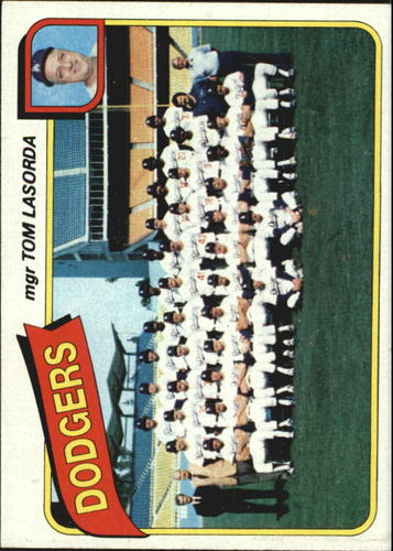 Photo of 1980 Topps #302 Los Angeles Dodgers CL/Tom Lasorda MG