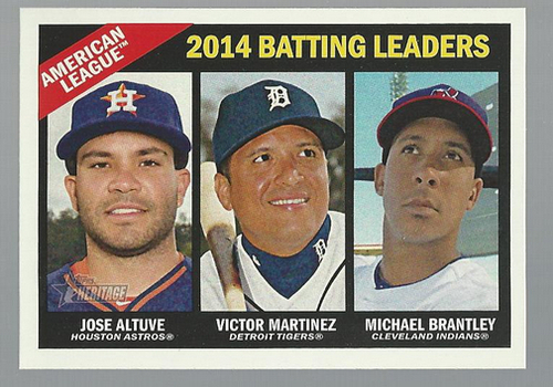 Photo of 2015 Topps Heritage #216 Michael Brantley/Jose Altuve/Victor Martinez
