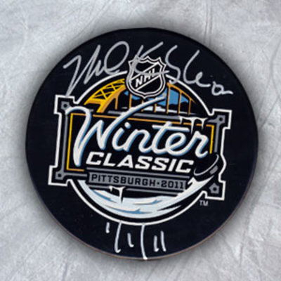 MIKE KNUBLE 2011 Winter Classic SIGNED Puck w/ 1/1/11