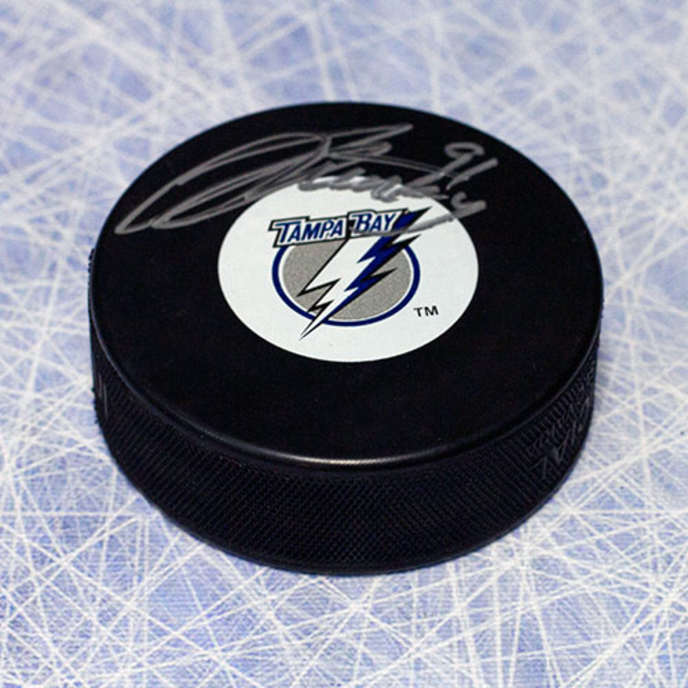 Steven Stamkos Tampa Bay Lightning Autographed Rookie Logo Hockey Puck