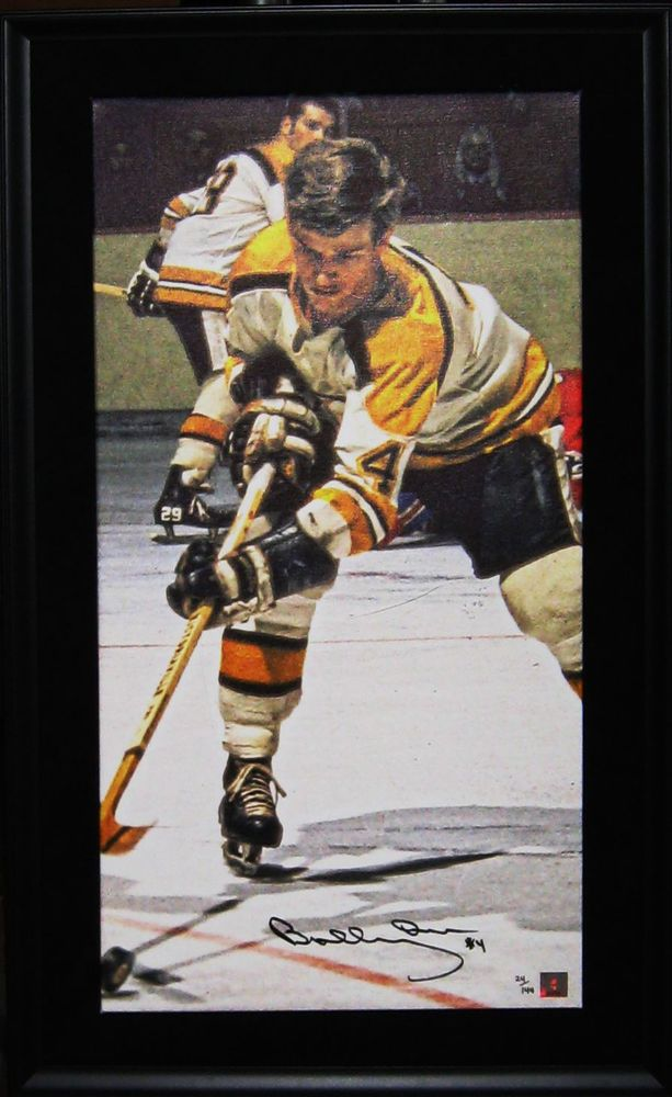 Bobby Orr Signed and Framed Art Print on 14