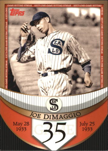 Photo of 2007 Topps DiMaggio Streak Before the Streak #JDSF35 Joe DiMaggio