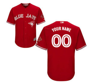 Toronto Blue Jays Customizable Men's Cool Base Replica Alternate Red Jersey