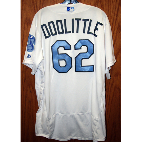 Photo of Sean Doolittle Game-Used 2016 Father's Day Jersey