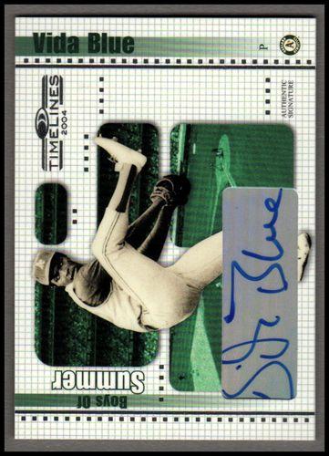 Photo of 2004 Donruss Timelines Boys of Summer Autograph #24 Vida Blue