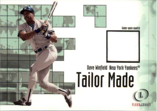 Photo of 2001 Fleer Legacy Tailor Made #24 Dave Winfield