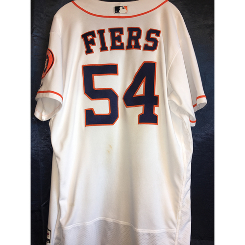 Photo of Game-Used Home Jersey: Mike Fiers