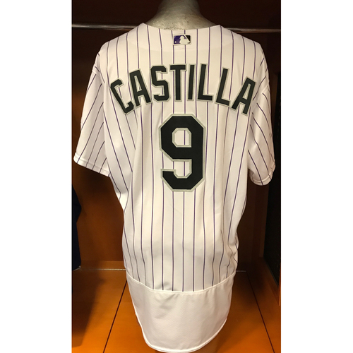 Photo of Colorado Rockies Vinny Castilla Game Used Jersey to Aid Hurricane Harvey Relief Efforts