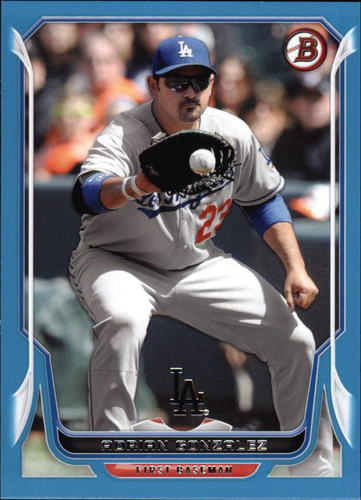 Photo of 2014 Bowman Blue #99 Adrian Gonzalez 116/500 -- Dodgers post-season