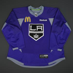 Andy Andreoff - Los Angeles Kings - 2015-16 Practice-Worn Jersey