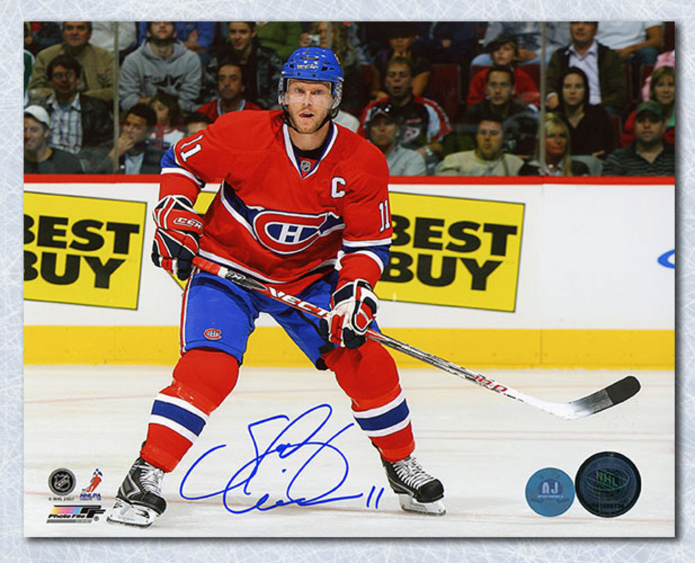 Saku Koivu Montreal Canadiens Autographed Habs Captain 8x10 Photo