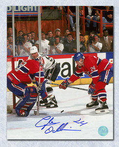 Lyle Odelein Montreal Canadiens Signed 1993 Finals w Roy vs Gretzky 8x10 Photo