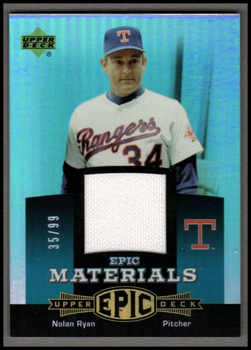 Photo of 2006 Upper Deck Epic Materials Teal #NR3 Nolan Ryan Jsy/99