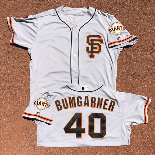 Photo of San Francisco Giants - 4x All-Star Madison Bumgarner - Game Used Jersey - Worn 9/25/16