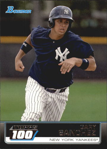 Photo of 2011 Bowman Topps 100 #TP16 Gary Sanchez -- Yankees post-season