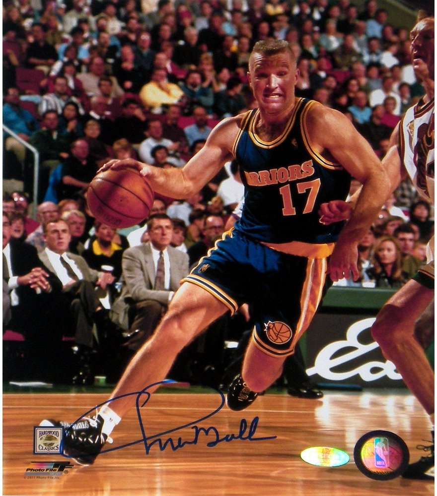 Chris Mullin Drive to Basket Right Handed Vertical 8x10 Photo
