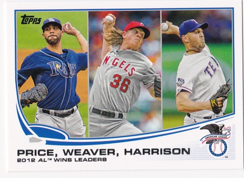 Photo of 2013 Topps #95 Matt Harrison/David Price/Jered Weaver