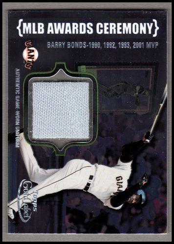 Photo of 2002 Topps Gold Label MLB Awards Ceremony Relics Platinum #BB1 Barry Bonds MVP Uni