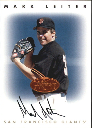 Photo of 1996 Leaf Signature Autographs #132 Mark Leiter