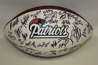 PATRIOTS - 2011 MULTI SIGNED PANEL (INCLUDING ROB GRONKOWSKI SHANE VEREEN MATT LIGHT JEROD MAYO KEVIN FAULK AND OTHERS) SMUDGES ON SOME SIGNATURES