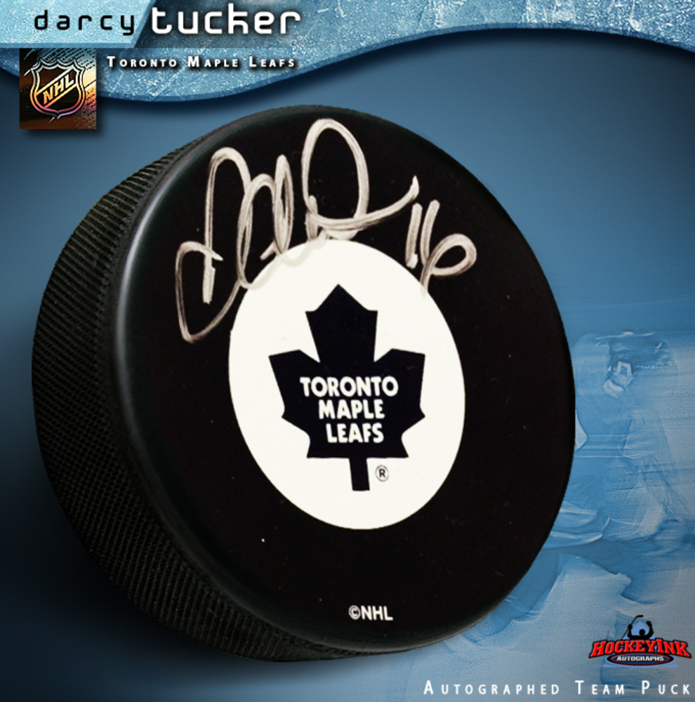 DARCY TUCKER Signed Toronto Maple Leafs Puck