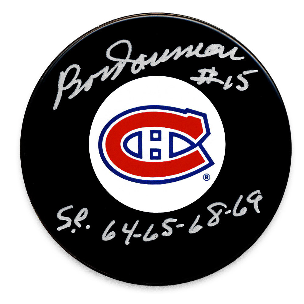 Bobby Rousseau Montreal Canadiens SC Years Autographed Puck