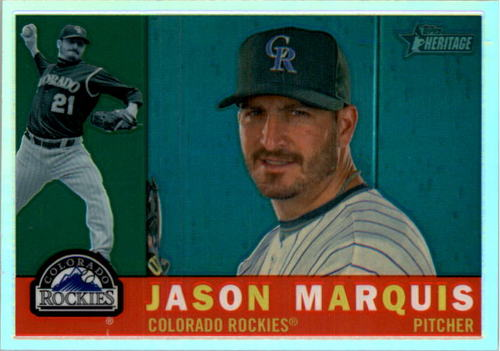 Photo of 2009 Topps Heritage Chrome Refractors #CHR105 Jason Marquis