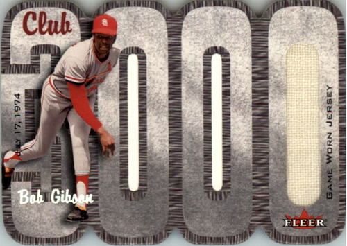 Photo of 2000 Fleer Club 3000 Memorabilia #BG3 B.Gibson Jersey/825
