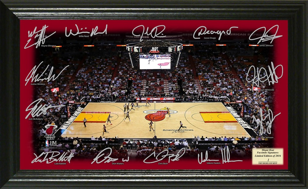Serial #1! Miami Heat Signature Court
