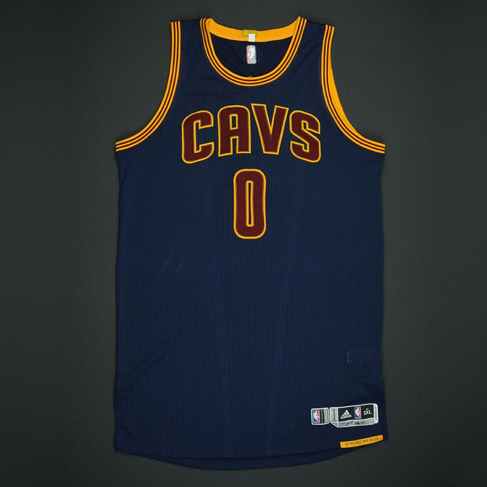 Kevin Love - Cleveland Cavaliers - 2017 NBA Finals - Game 1 - Game-Worn Navy 2nd Half Only Jersey