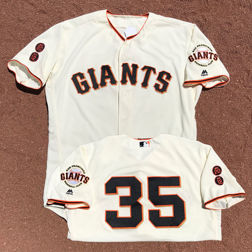 Photo of San Francisco Giants - 1x All-Star Brandon Crawford - Game Used Jersey - Worn 6/28/16 - 3-5, 5 RBIs, 3B, 2B, 1B (also Worn 6/15/16)