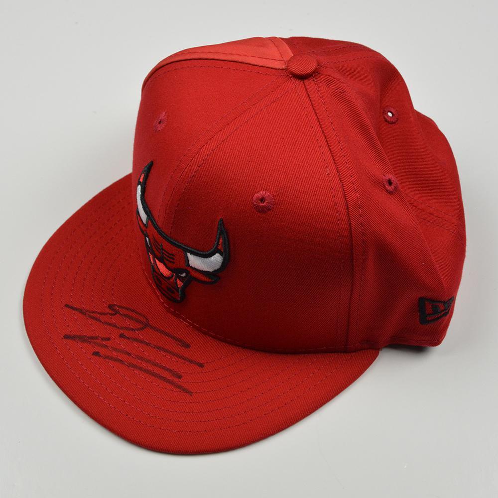 Denzel Valentine - Chicago Bulls - 2016 NBA Draft - Autographed Hat
