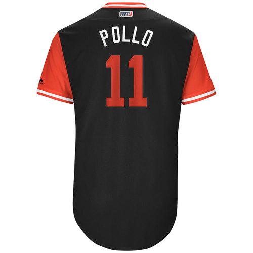 "Photo of A.J. ""Pollo"" Pollock Arizona Diamondbacks Game-Used Players Weekend Jersey"