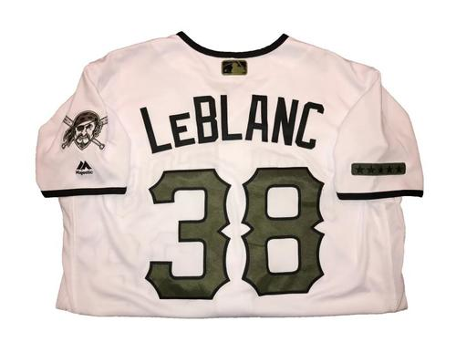 Photo of Wade LeBlanc Game-Used Memorial Day Weekend Jersey