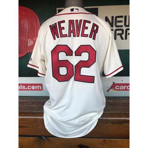 Cardinals Authentics: Luke Weaver Team-Issued Saturday Alternate Jersey