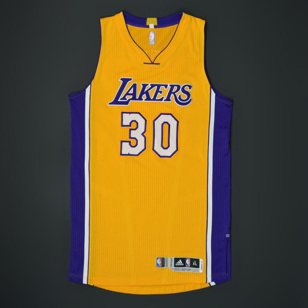Julius Randle - Los Angeles Lakers - Game-Worn Jersey - 2015-16 NBA Season
