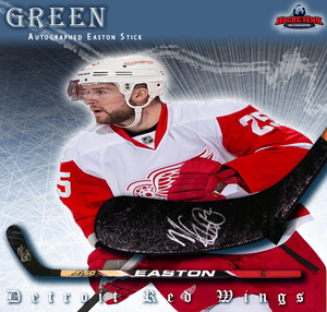 MIKE GREEN Signed Easton Stick - Detroit Red Wings